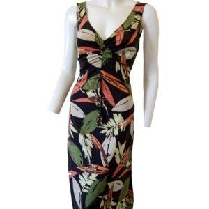 BCBGMAXAZRIA Tropical Leaf Dress Size Small